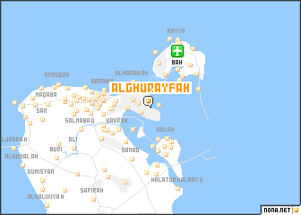 map of Al Ghurayfah