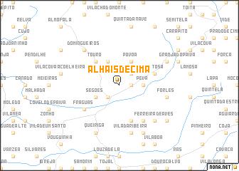 map of Alhais de Cima