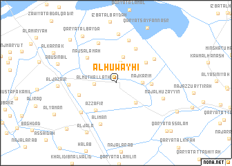 map of Al Ḩuwayḩī