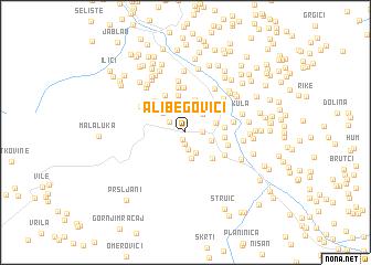 map of Alibegovići
