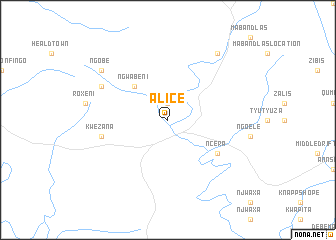 Alice (South Africa) map   nona.net