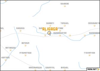 map of Aligaga