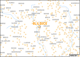 map of (( Alilovce ))