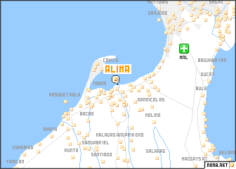 map of Alima