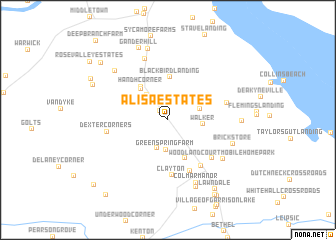 map of Alisa Estates