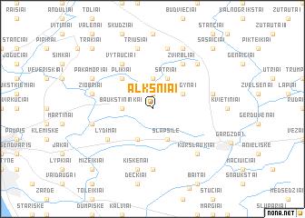 map of Alksniai