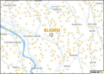 map of Al Kurdī