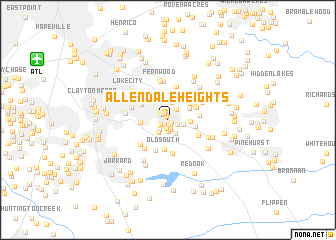 map of Allendale Heights