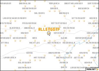 map of Allendorf