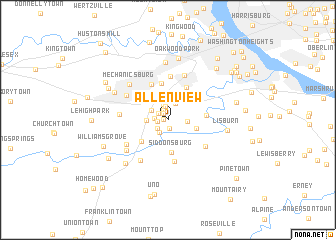 map of Allenview