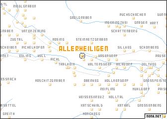 map of Allerheiligen