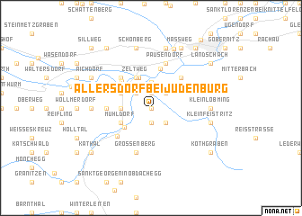 map of Allersdorf bei Judenburg