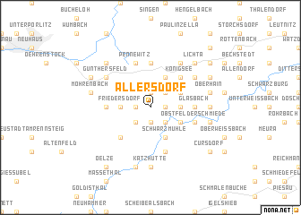 map of Allersdorf