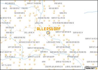 map of Allersdorf