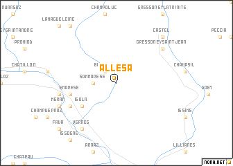 map of Allesà