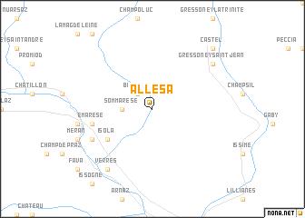 map of Allesà