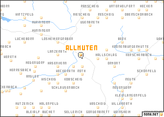 map of Allmuten