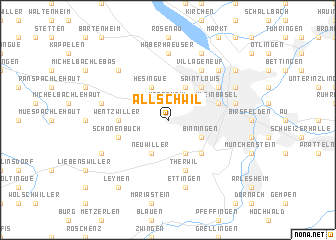 map of Allschwil