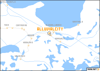 map of Alluvial City