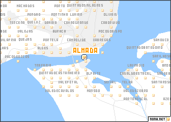Almada Portugal map nonanet