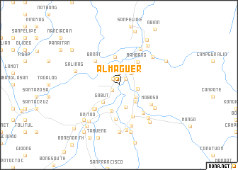 map of Almaguer
