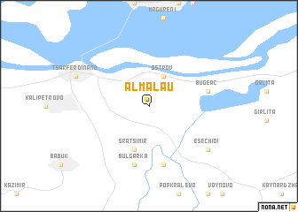 map of Almălău