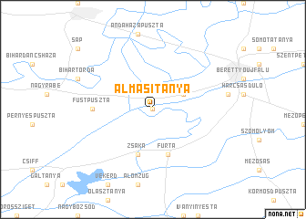 map of Almásitanya