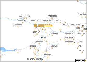 map of Al Maşna'ah