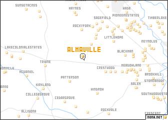 map of Almaville