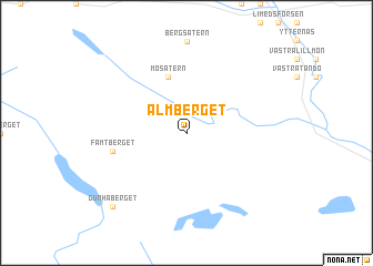 map of Almberget