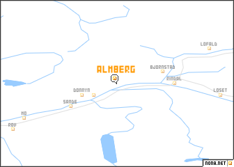 map of Almberg