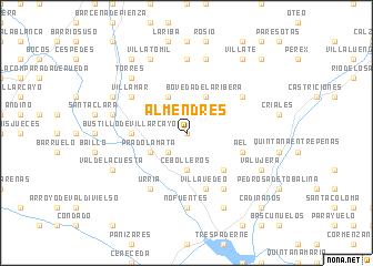 map of Almendres