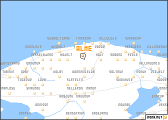 map of Alme