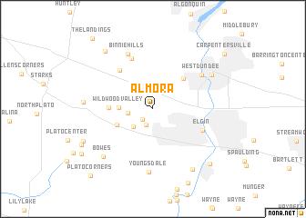 map of Almora