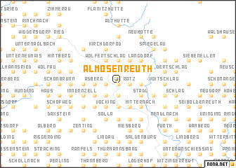 map of Almosenreuth
