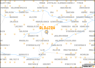 map of Alojzów