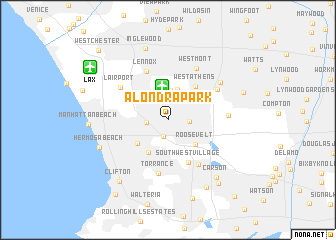 map of Alondra Park