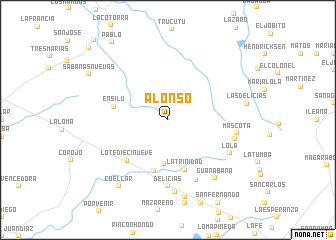 map of Alonso