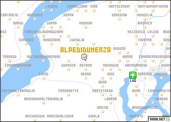 map of Alpe di Dumenza