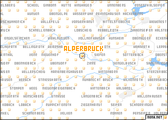 map of Alperbrück
