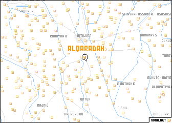 map of Al Qarāḑah