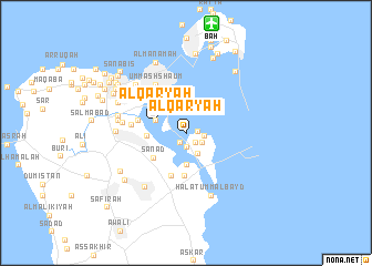 map of Al Qaryah