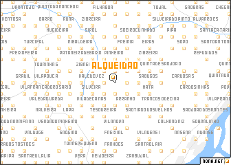 map of Alqueidão