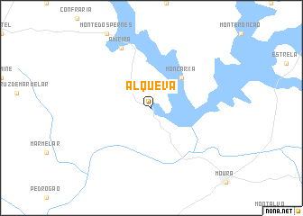 map of Alqueva