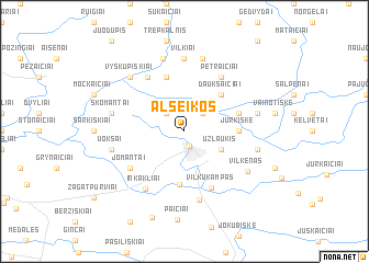 map of Alseikos
