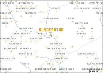 map of Alsócsatár