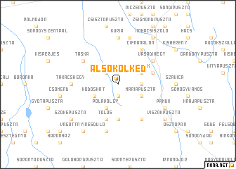 map of Alsókölked