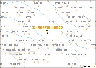 map of Alsószalmavár