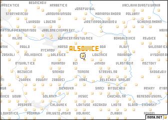 map of Alšovice