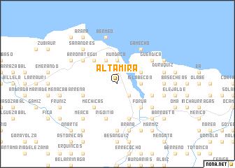 Altamira (Spain) map   nona.net